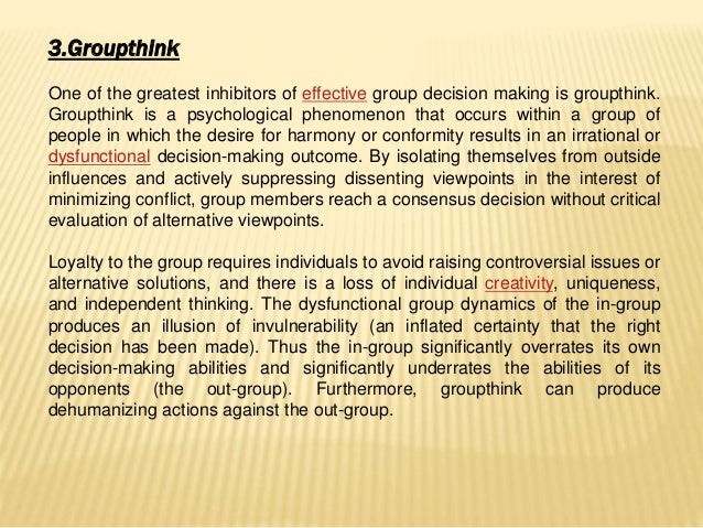Groupthink theory essay