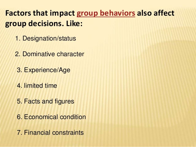 group decision making two sides of Characteristics of top management group decision making (eg bourgeois and  context of top management decision making,  arguing the two sides of the case.