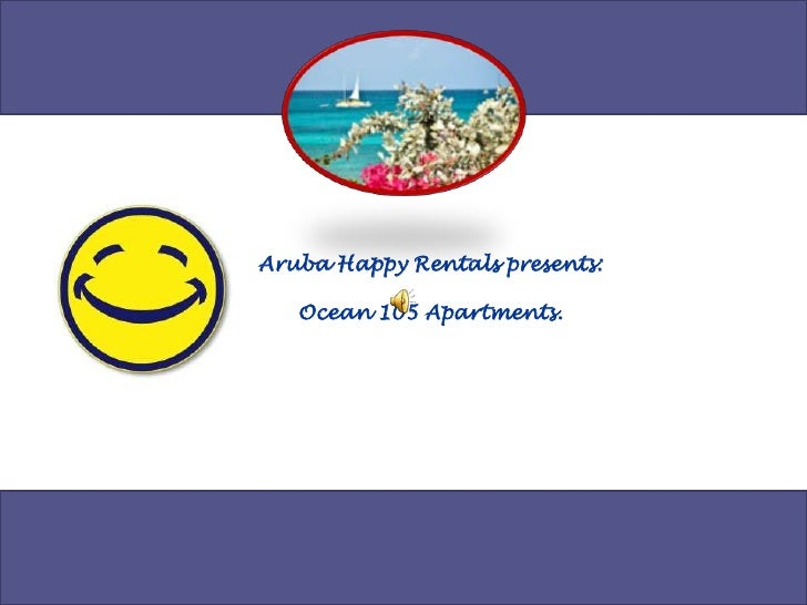 Aruba Happy Rentals presents:<br />Ocean 105 Apartments.<br />