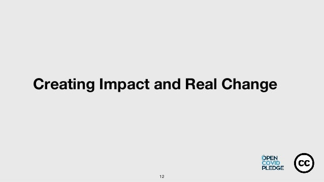12 Creating Impact and Real Change