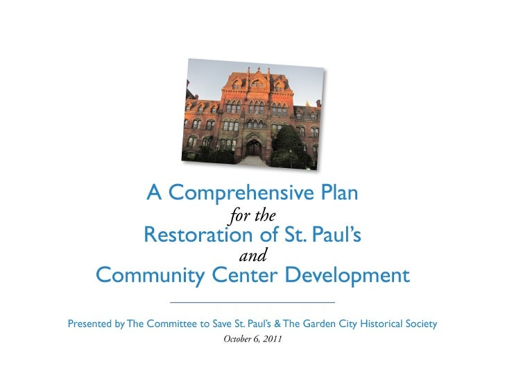 VisionTake the necessary first step towards making St. Paul's       a vibrant community / recreation center.              ...