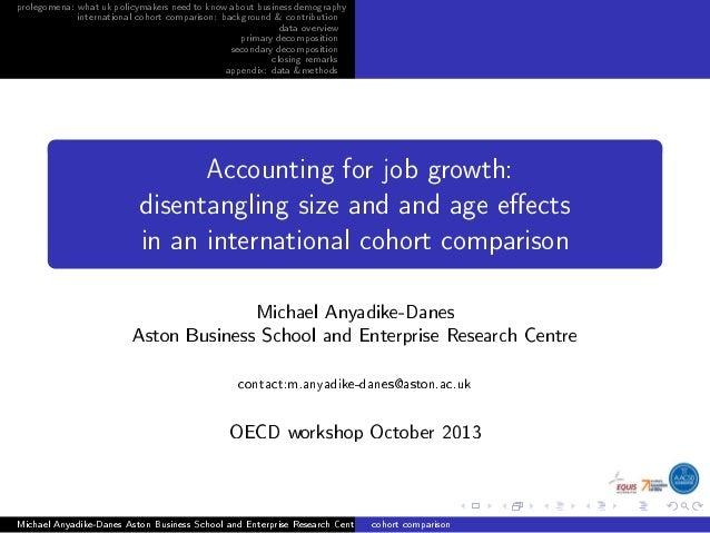prolegomena: whatukpolicymakersneedtoknowaboutbusinessdemography international cohort comparison: background & contributio...