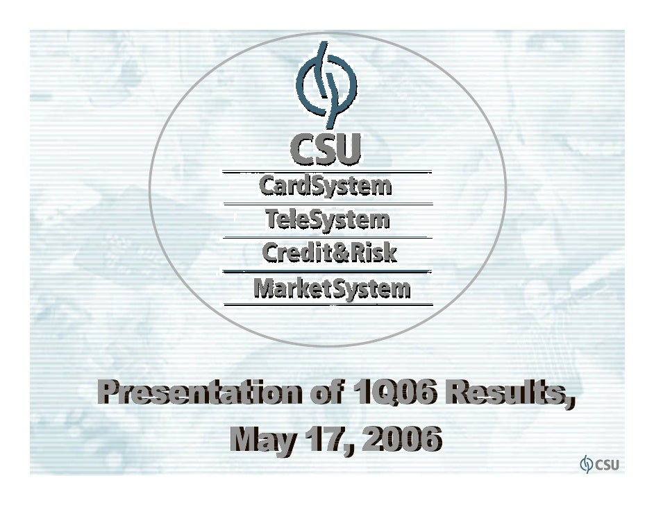 Business Environment• Card base expansion in 2006                                     • Competition                       ...