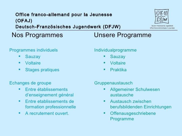 Pr sentation ofaj pr sentation dfjw - Cabinet de recrutement franco allemand ...