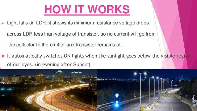 Presentation of automatic street light