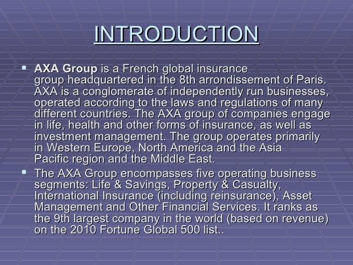 axa insurance powerpoint template  Presentation of axa group