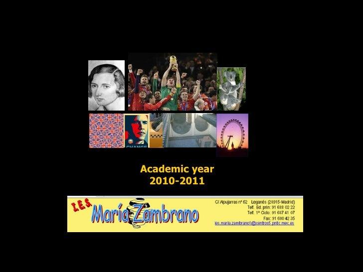 Academic year 2010-2011