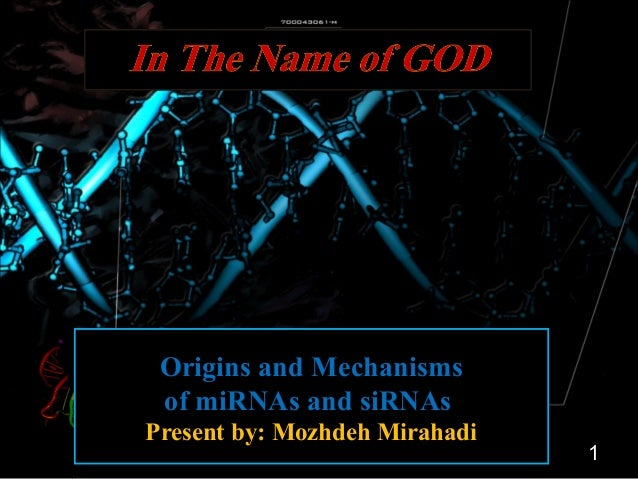 Origins and Mechanisms  of miRNAs and siRNAs  Present by: Mozhdeh Mirahadi  1