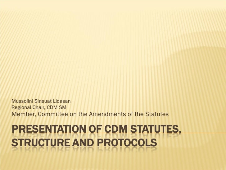 Mussolini Sinsuat Lidasan Regional Chair, CDM SM Member, Committee on the Amendments of the Statutes