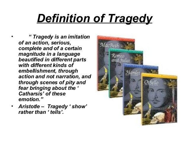 Six parts of Tragedy Charecter , Tragic hero and Hamartia Slide 2