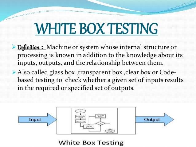 White Box Amp Black Box Testing In Database