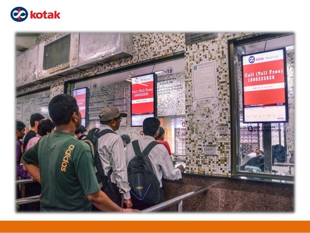 Presentation of digital screen at railway ticket counters Slide 2