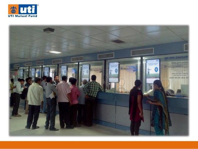 Presentation of digital screen at railway ticket counters Slide 3