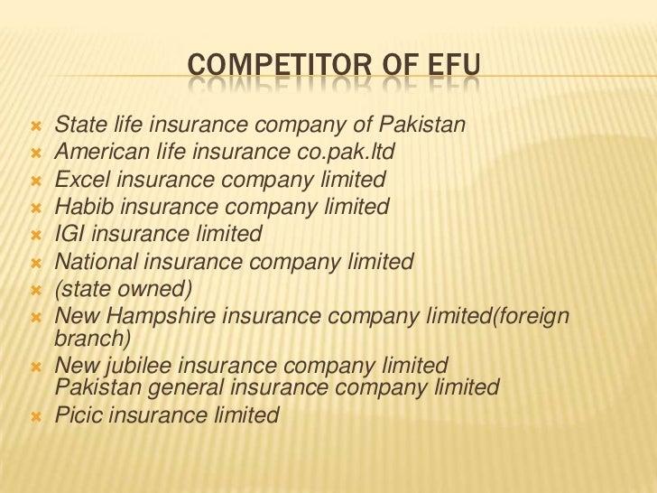 Presentation of efu
