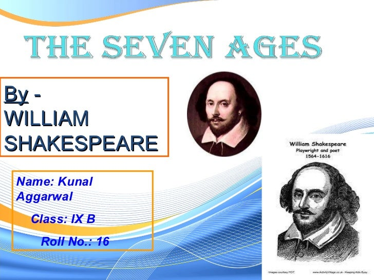 Name: Kunal Aggarwal Class: IX B  Roll No.: 16 By  - WILLIAM SHAKESPEARE