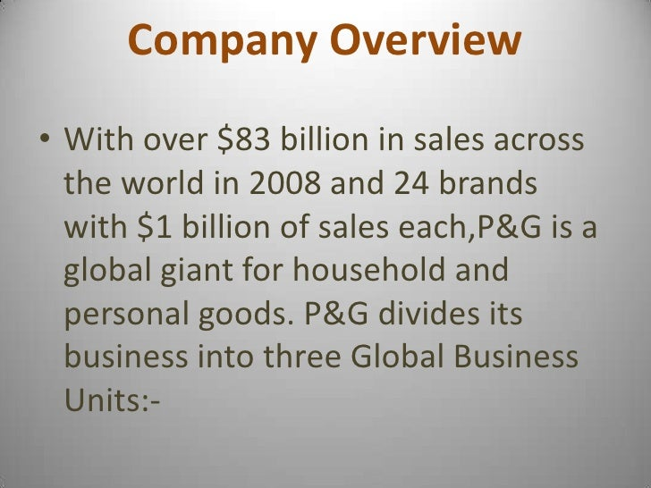 presentation about procter and gamble Procter & gamble (nyse:pg) executives held an investor presentation last week  that spelled out their latest thinking around a multiyear.