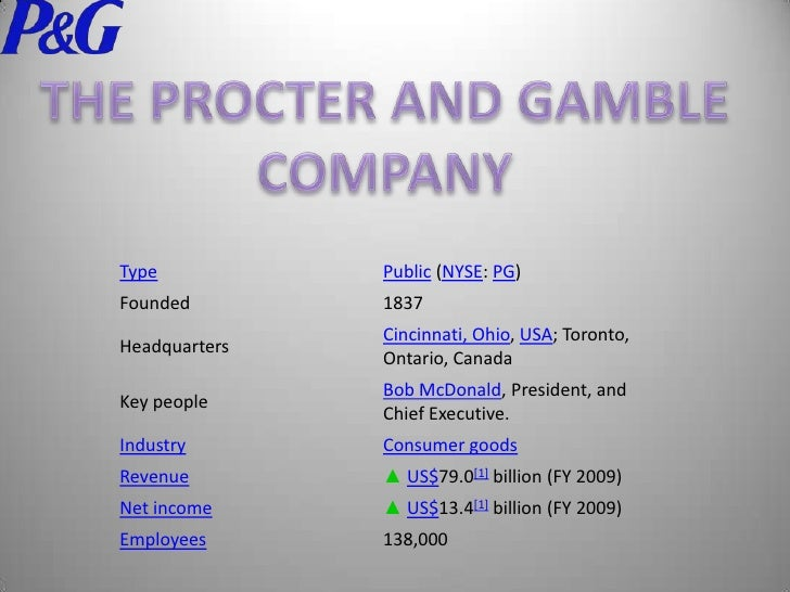 Trian Partners – Procter & Gamble Presentation