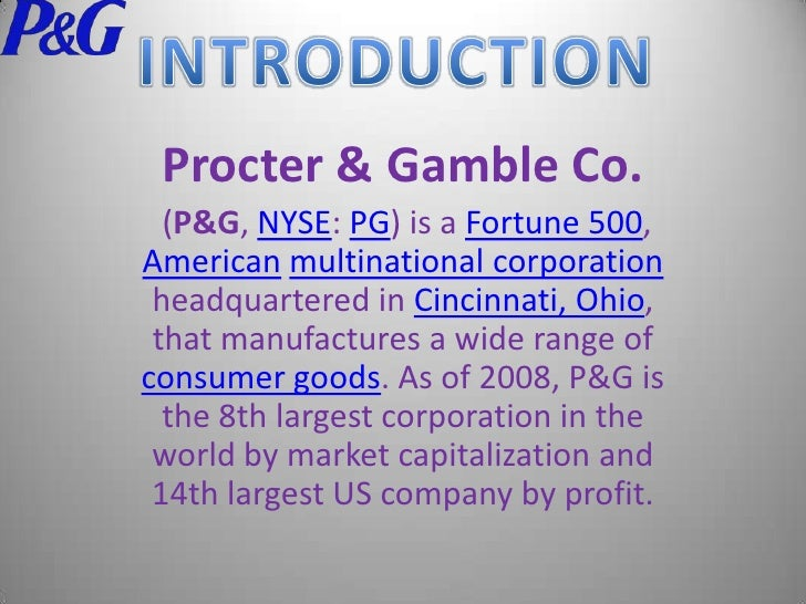Brief introduction of procter and gamble company tavern poker raleigh