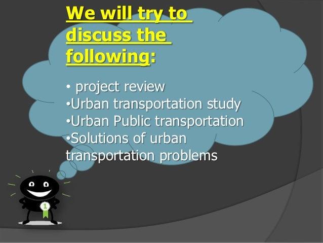 URBAN TRANSPORT DEVELOPMENT PLANNING Slide 3