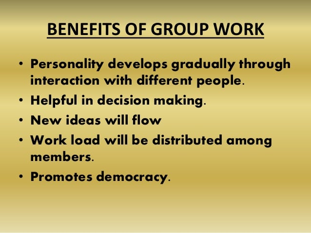 Importance of group