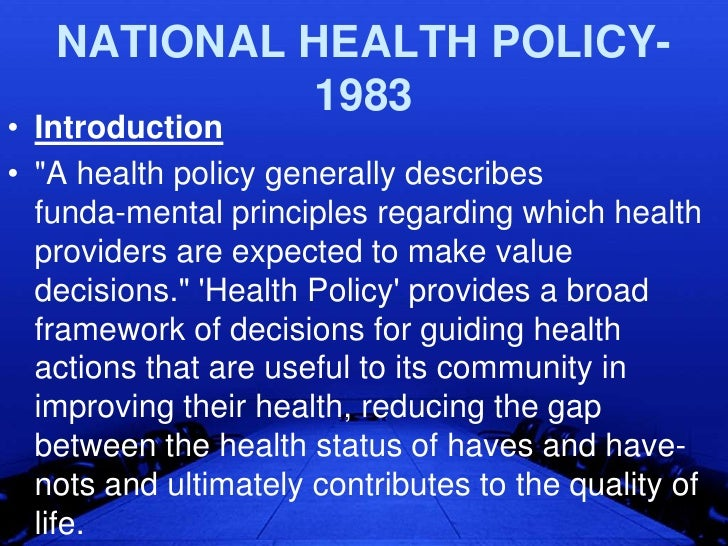 health poliy Welcome this site is intended for use by the us health policy community, media and general public this web portal includes five components.