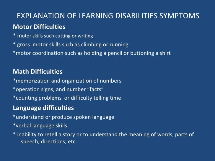 learning disabilities 3 essay