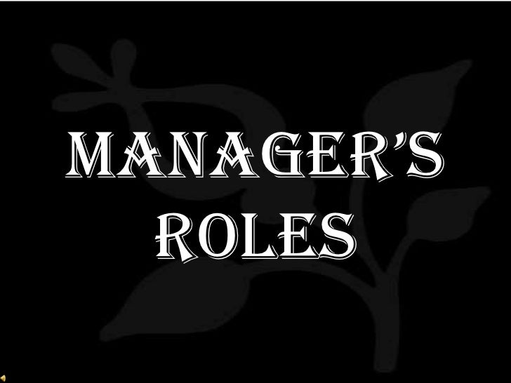 Manager's Roles<br />