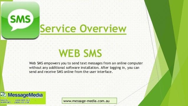 Message Media: The Custom SMS Whiz Slide 2