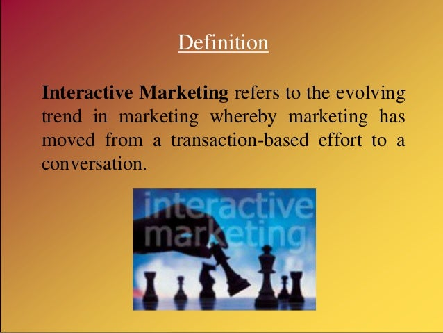 sales promotion  direct marketing  interactive marketing