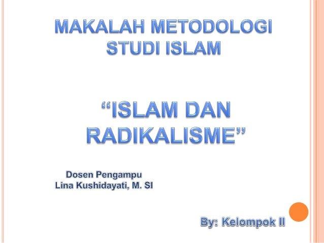 Makalah Radikalisme Di Indonesia