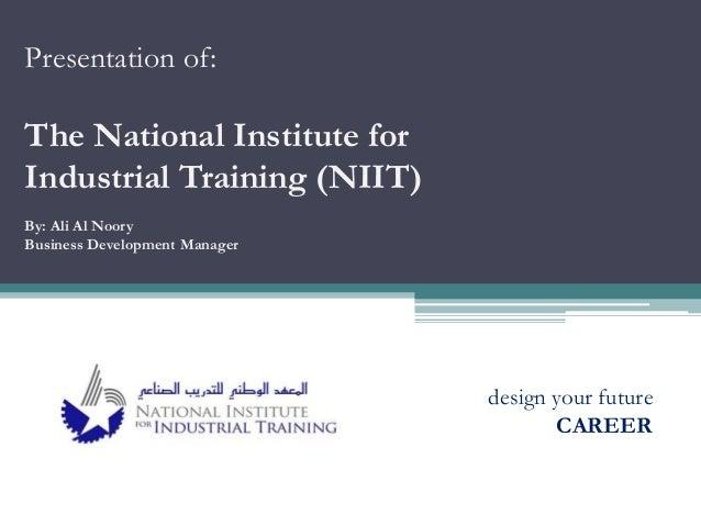 Presentation of NIIT Bahrain - March 2014