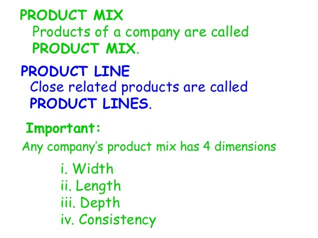 Presentation of product mix depth,length,width and consistency
