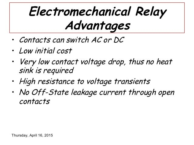 Electromechanical Relay - Relay Contact Voltage Drop