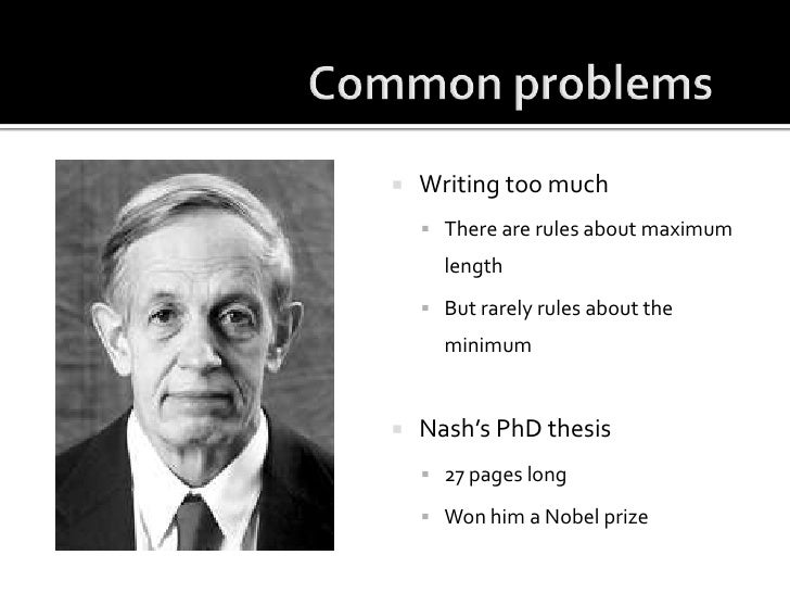 john forbes nash phd thesis Last week john nash, the nobel prize-winning mathematician, and subject of the blockbuster film a beautiful mind, passed away at the age of 86.