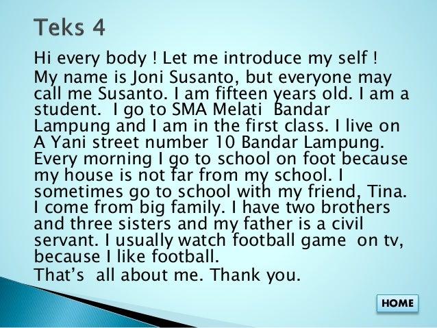 self presentation essay
