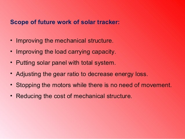 Presentation Of Single Axis Solar Tracker
