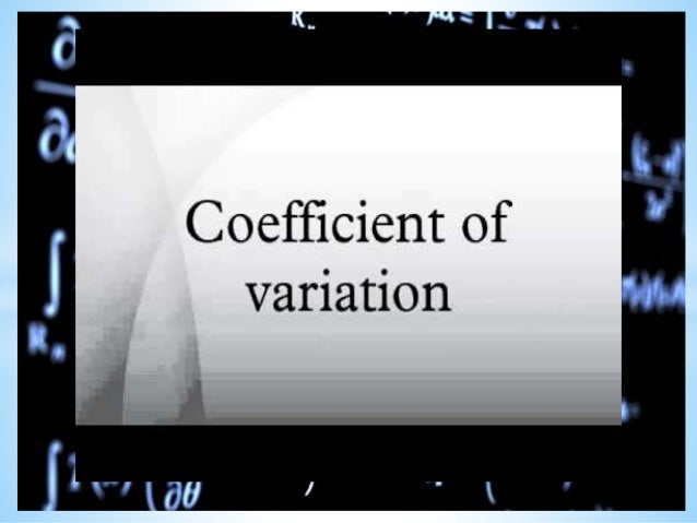 coefficient variation