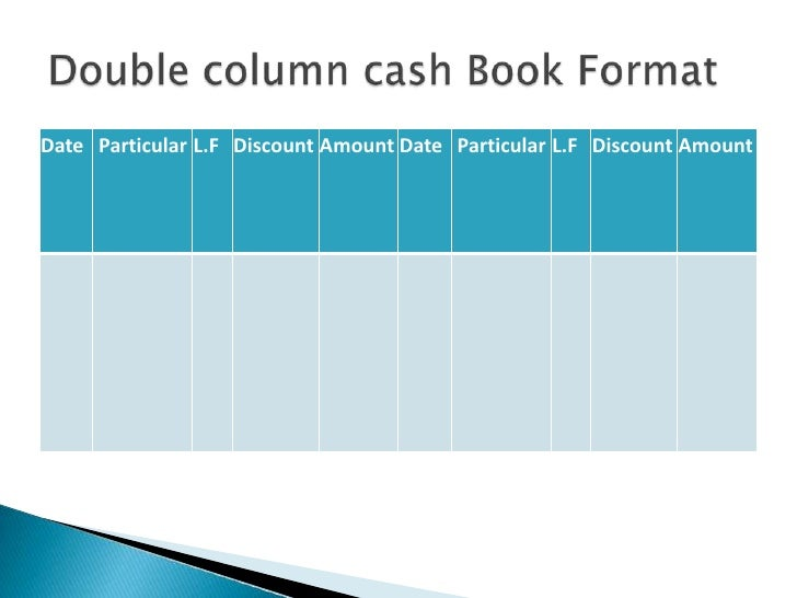 Presentation of subsidiary books cash book br 19 pronofoot35fo Gallery
