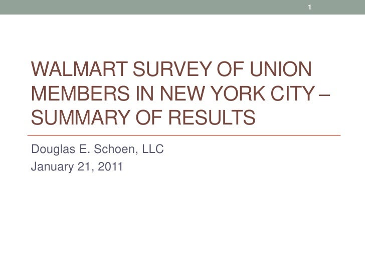 74% of New York Union Members Support Walmart