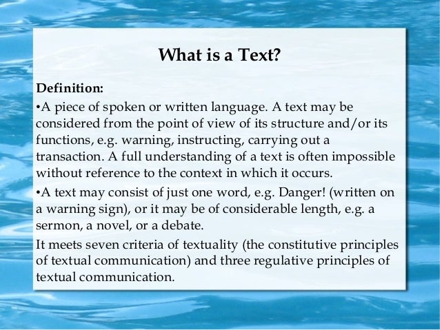 TEXT AND TEXTUALITY PDF DOWNLOAD