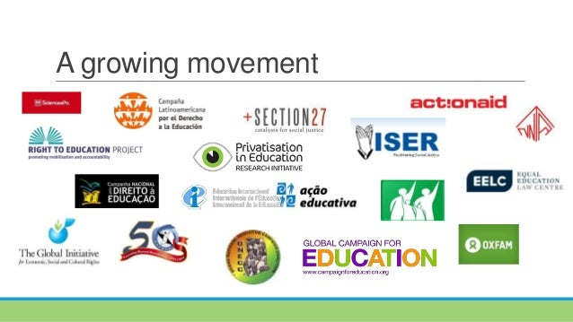 Presentation of the work on privatisation in education - Education International 7th Congress July 2015 Ottawa Slide 2