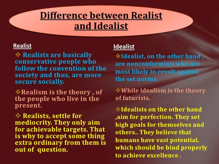 key differences between realism and neo realism Similarities and differences neoliberalism neoliberals recognize that the international system is characterized by some anarchy, however, unlike the neorealist emphasizing its fundamental value consider that certain models of interactions between the states were developed.