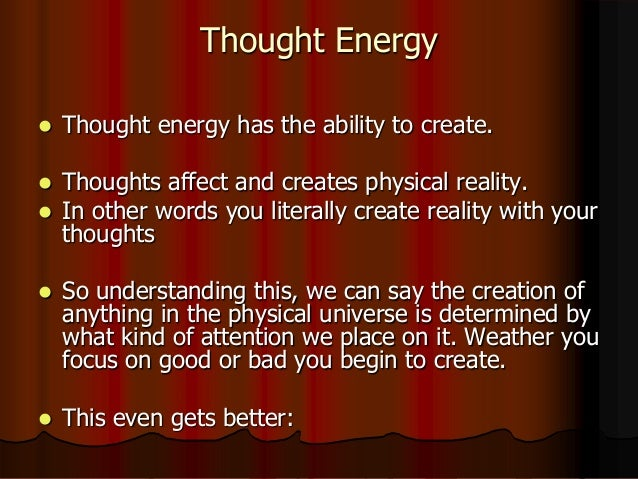 presentation of thoughts are things