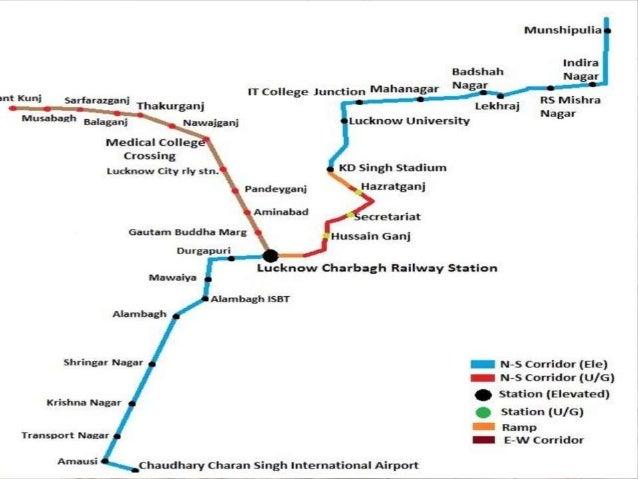Lucknow Metro Map.Lucknow Metro Ppt