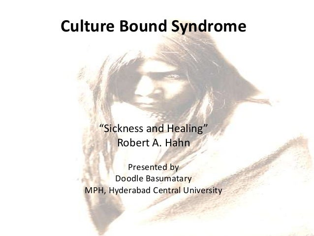 Culture Bound Syndrome Medical Anthropology