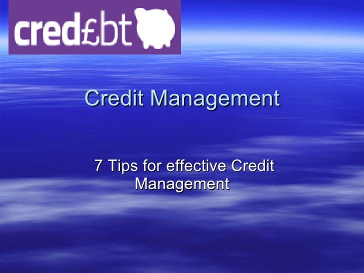 The value of effective credit management