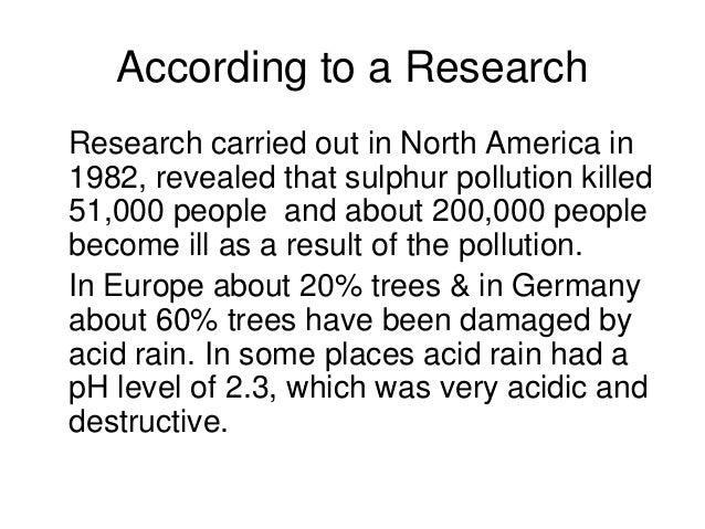 Essay/Term paper: Acid rain is pollution