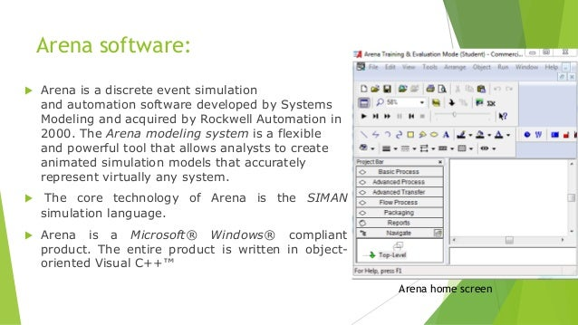 logiciel siman arena