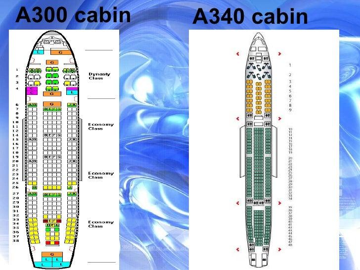 A300 cabin A340 cabin
