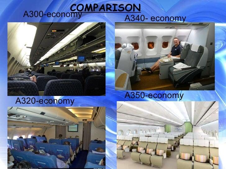 A300-economy A320-economy A340- economy A350-economy COMPARISON